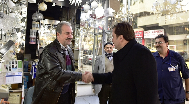 Başkan Erkoç Esnaf Ziyaretlerine Devam Ediyor