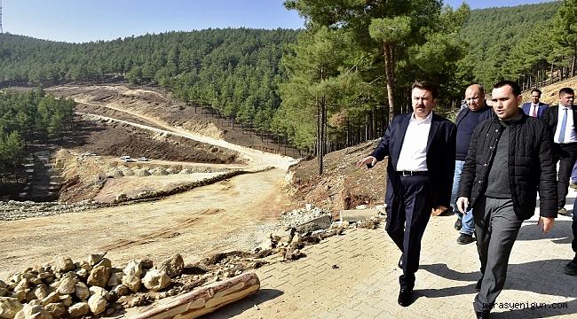 Başkan Erkoç Kuzey Çevre Yolunu İnceledi