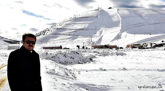 Başkan Erkoç Yedikuyular Kayak Merkezi'nde…