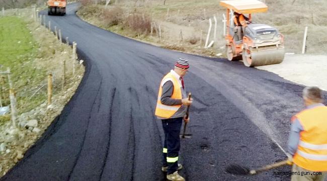 Çukurhisar yolu asfaltlanıyor