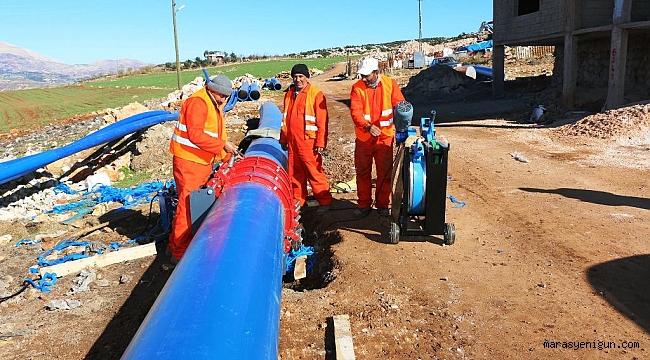 Pazarcık'ta 70 yıllık su şebekesi yenileme çalışmaları başladı