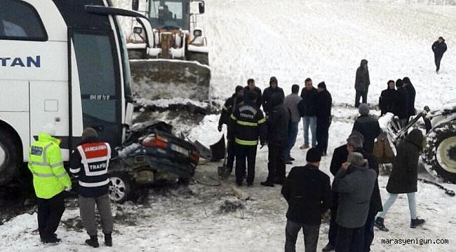 Afşin'de feci kazada aynı aileden 1 kişi öldü, 2 kişi yaralandı