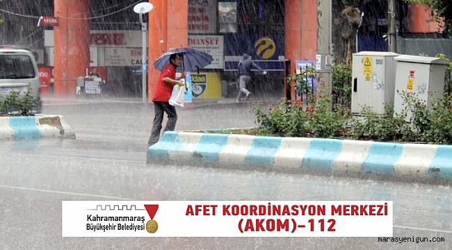 AKOM' dan yağış uyarısı