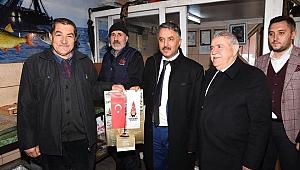 Başkan Hanefi Mahçiçek, Esnafları ziyaret etti