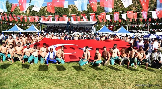 GÖKSUN 39. KARAKUCAK GÜREŞ FESTİVALİ REKOR KATILIMLA YAPILDI