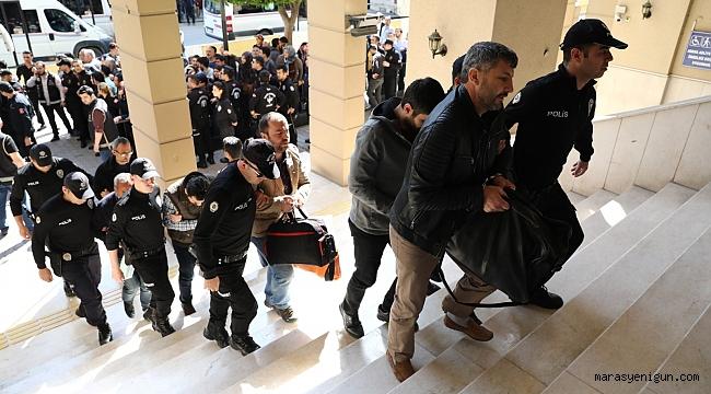 FETÖ OPERASYONUNDA GÖZALTINA ALINAN 58 POLİS ADLİYEYE SEVK EDİLDİ