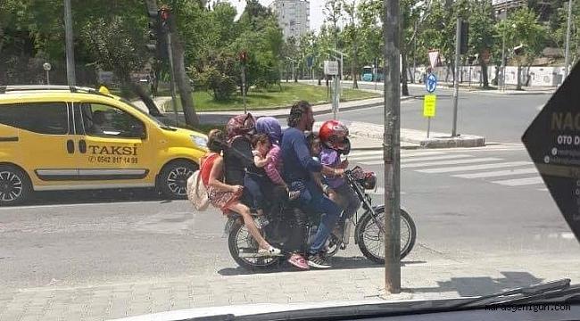 7 KİŞİ BİR MOTOSİKLETTE
