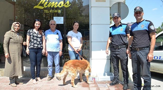 POLİS, SOKAK HAYVANLARINI UNUTMADI