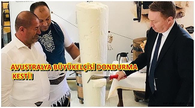 AVUSTRALYA BÜYÜKELÇİSİ DONDURMA KESTİ!