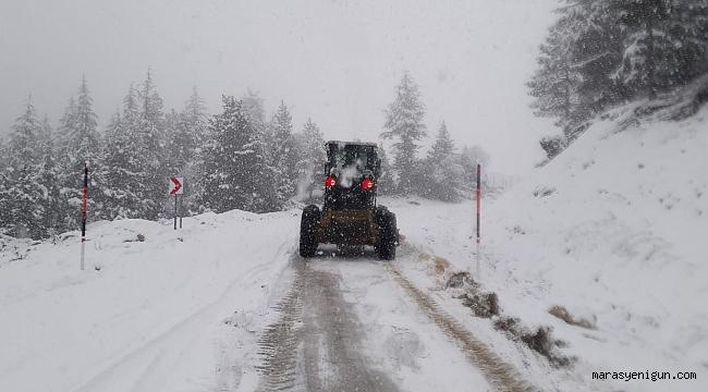 Kahramanmaraş'ta Kar Temizleme Çalışmaları Sürüyor