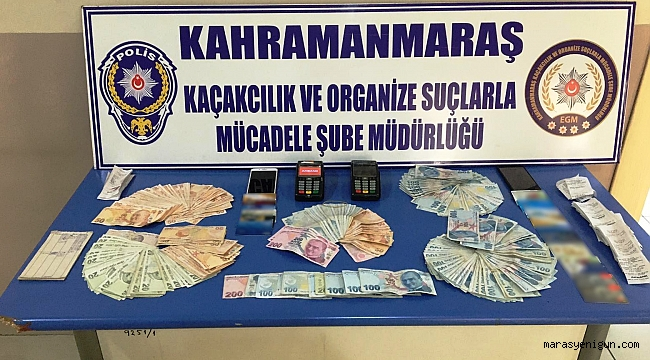 Kahramanmaraş'ta Pos Tefeciliği Operasyonu: 3 Gözaltı