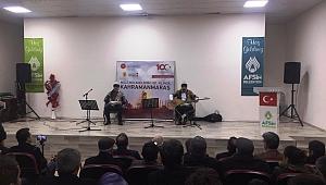 Afşin'de Ozanlar 100'üncü Yıl İçin Söyledi