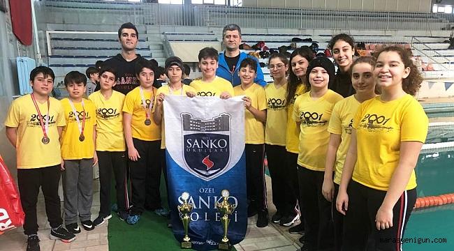 SANKO Okulları Yüzmede 59 Madalya Ve 2 Kupa Kazandı