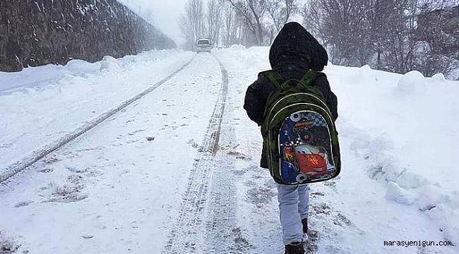 Kahramanmaraş'ın 5 İlçesinde Eğitime Kar Engeli