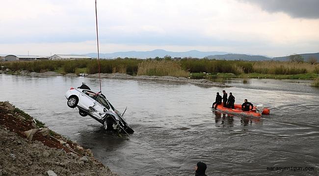 Polisten Kaçarken Suya Düşen Otomobilde Şüphelinin Cesedine Ulaşıldı