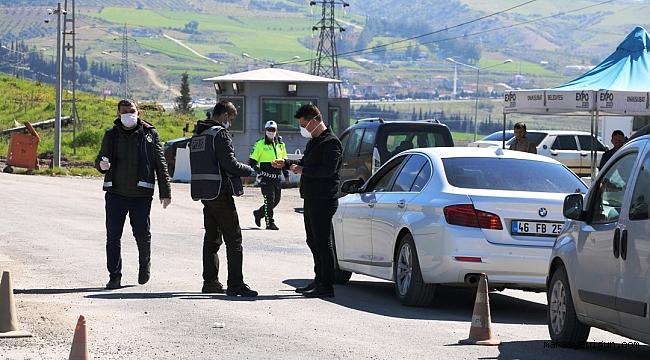 Kahramanmaraş'ta İl Girişlerine Yeni Güvenlik Noktaları Oluşturuldu