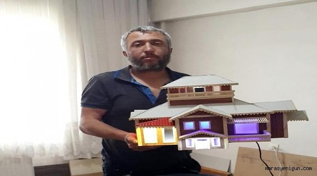 Korona Virüs İşsiz Bırakınca Ustalığını Maket Villa Yaparak Sergiliyor