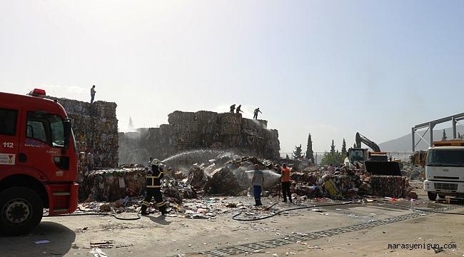 Kahramanmaraş'ta Fabrika Yangını Korkuttu