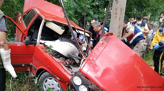 Tavuğa Çarpmamak İçin Kaza Yaptı: 2 Yaralı
