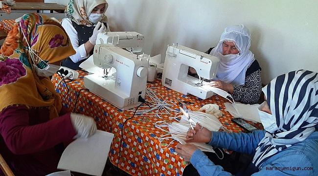 Mahallenin Kadınları Maske Üretmek İçin Gönüllü Oldu