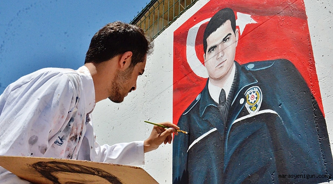 Elbistan'da Şehit Polisler İçin Özel Çalışma
