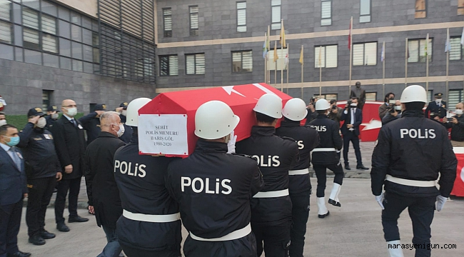 Şehit Polis Memuru İçin Kahramanmaraş'ta Tören Düzenlendi