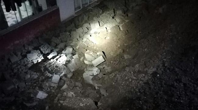 Kahramanmaraş'ta Apartmanın İstinat Duvarı Çöktü