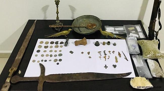 Kahramanmaraş'ta Uyuşturucu ve Tarihi Eser Operasyonu