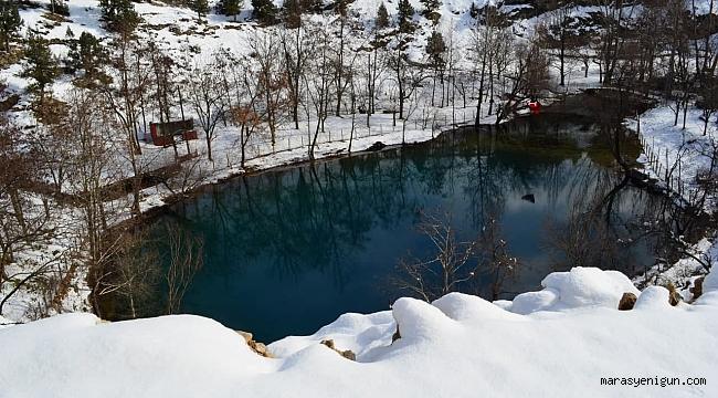 Kahramanmaraş'ın Saklı Cenneti 'Yeşilgöz' Beyaz Gelinliğini Giydi