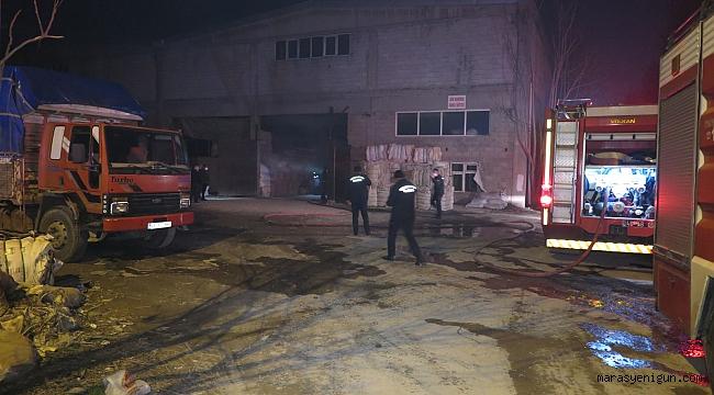 Tekstil Fabrikasındaki Yangın Korkuttu