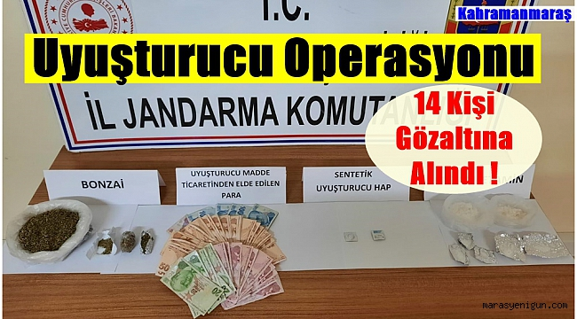 Uyuşturucu Operasyonu 14 Kişi Gözaltına Alındı !