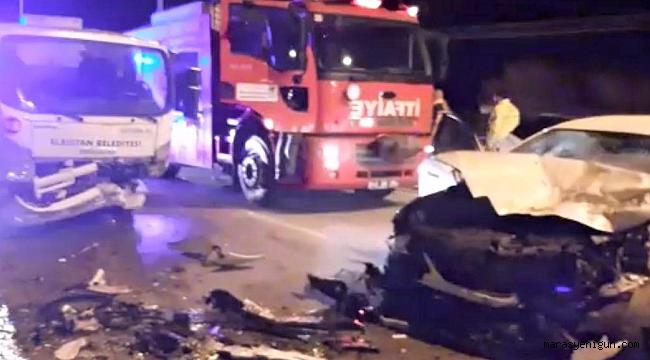 Çöp Kamyonu İle Otomobil Çarpıştı: 1 Yaralı
