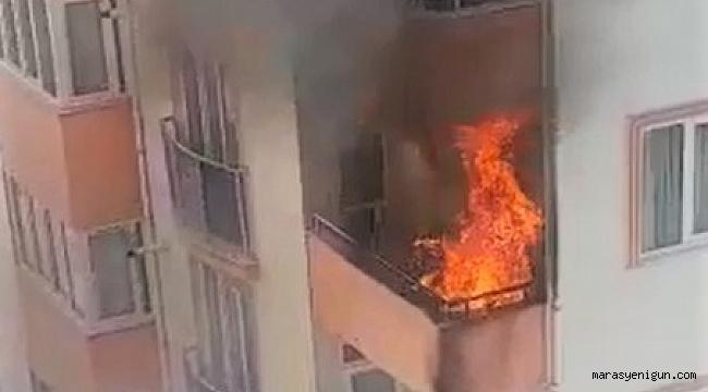Kahramanmaraş'ta Balkon Yangını Paniğe Neden Oldu