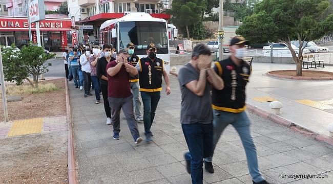 Kahramanmaraş'ta 'Sarı Maden' Operasyonu: 18 Gözaltı