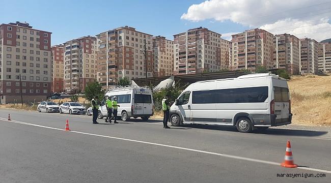 Kahramanmaraş'ta Servis Araçlarına Eş Zamanlı Denetim