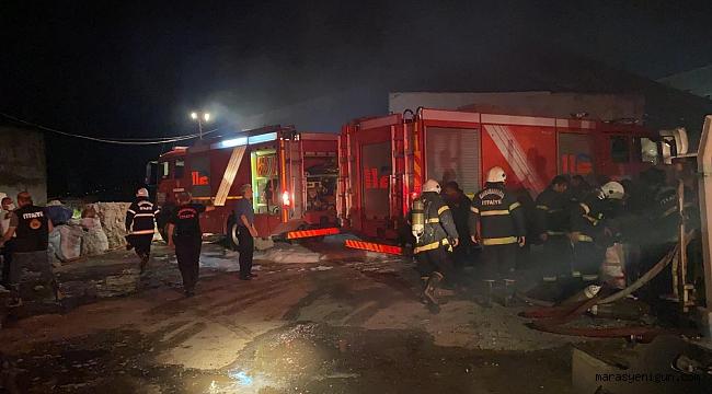 Kahramanmaraş'ta Tekstil Fabrikası Deposunda Yangın