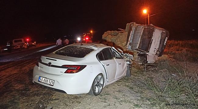 Elbistan'da Otomobil İle Kamyon Çarpıştı: 7 Yaralı