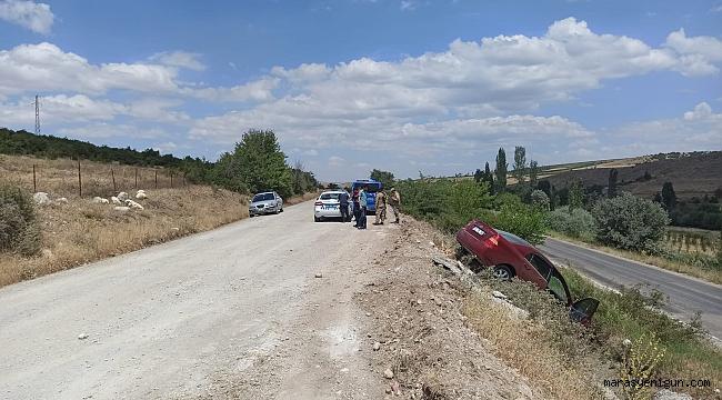 Göksun'da Otomobil Yoldan Çıktı: 3 Yaralı