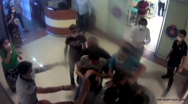 Hastane Personeline Saldırı Kamerada