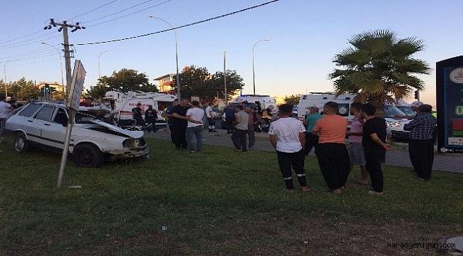 Kahramanmaraş'ta Otomobil İle Ambulans Çarpıştı: 1 Ölü 3 Yaralı