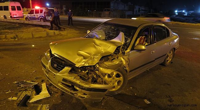 Kahramanmaraş'ta Otomobil İle Tır Çarpıştı: 4 Yaralı