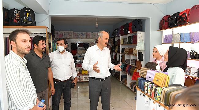 Başkan Okay'dan Ballıca Mahallesinde Esnaf Ziyareti