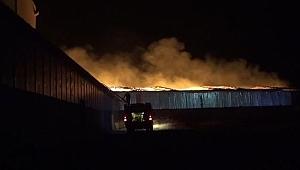 Fabrika Yangınına Müdahale Sürüyor