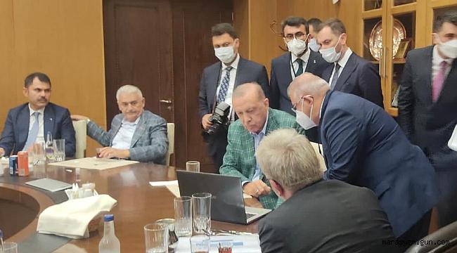 Başkan Mahçiçek'ten Cumhurbaşkanı Erdoğan'a EXPO 2023 Sunumu Yapıldı