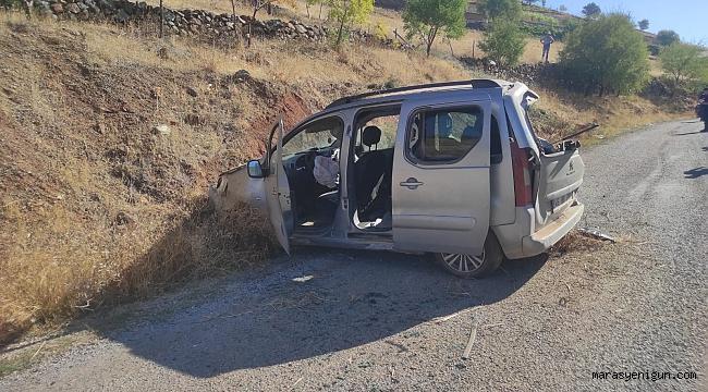 Kahramanmaraş'ta Aracıyla Toprak Zemine Çarptı: 3 Yaralı
