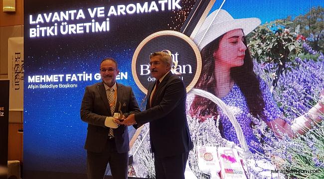 Kent ve Başkan 2021 ödülleri töreninde Afşin adına büyük bir gurur yaşandı.