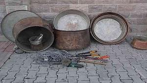 Bakır Kazan Hırsızları Polisten Kaçamadı