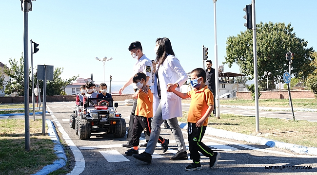 Dulkadiroğlu Trafik Eğitim Parkı Minik Misafirlerini Ağırladı