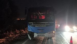 Kahramanmaraş'ta Otomobil İle Otobüs Çarpıştı: 1 Yaralı