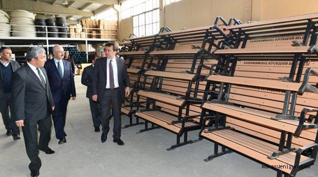 Başkan Erkoç, park ve bahçeler müdürlüğünde
